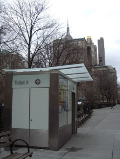 The Pubilc Toilet in Madison Square Park, Facing North, far view