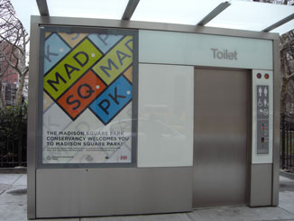 The Pubilc Toilet in Madison Square Park, front