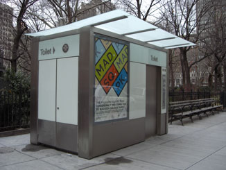 The Pubilc Toilet in Madison Square Park, Facing North, Close