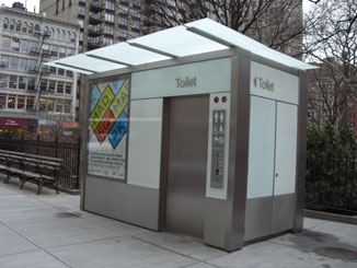 The Pubilc Toilet in Madison Square Park, Facing South, Close