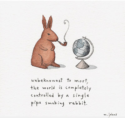 Bunny with Pipe